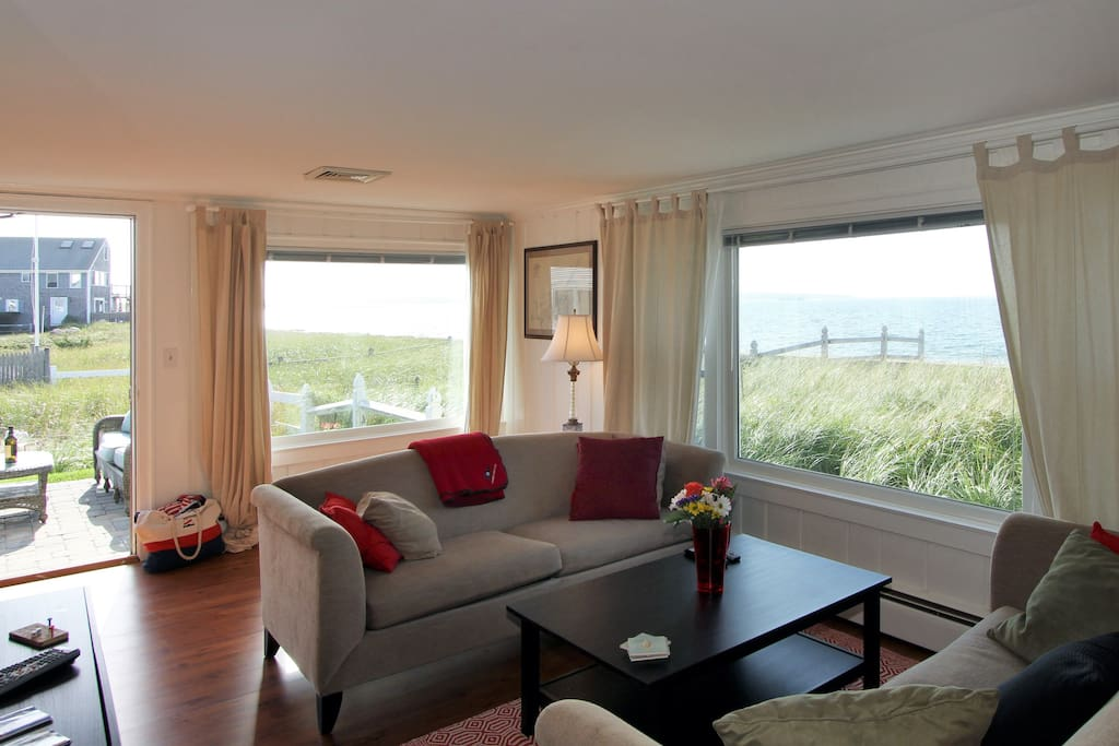 A stunning view from the living room, with access to the patio