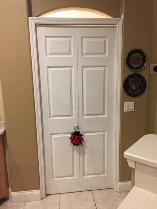 Privacy doors to bedrooms and bathroom
