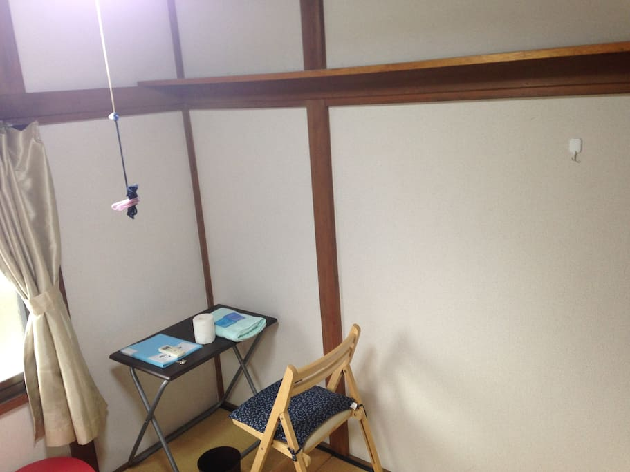 study desk, upper small shelf