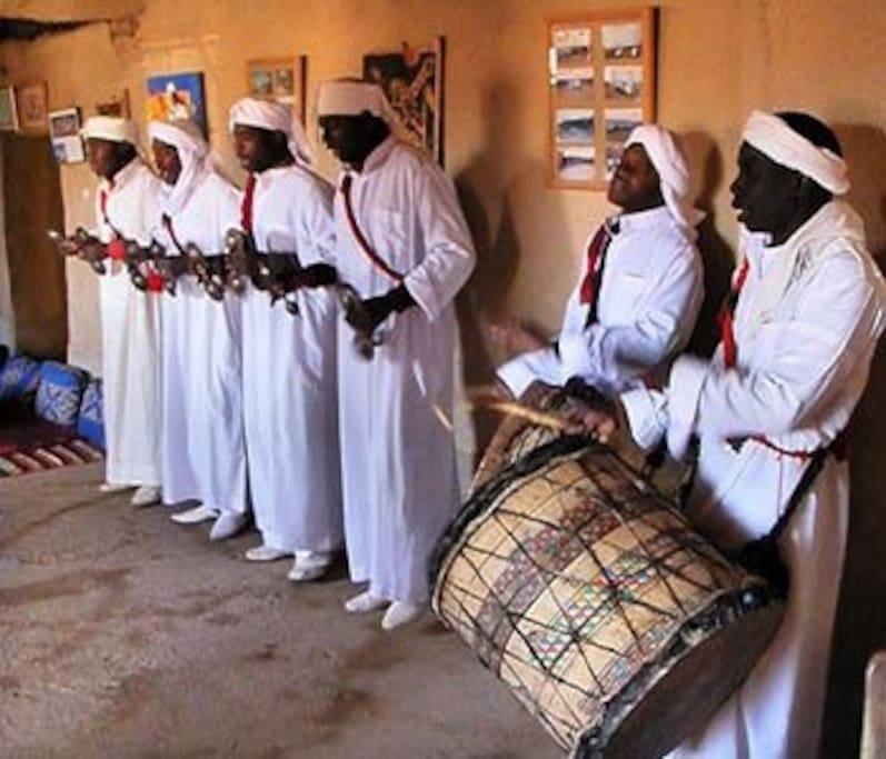 Gnaoua music in khamlia  south morocco