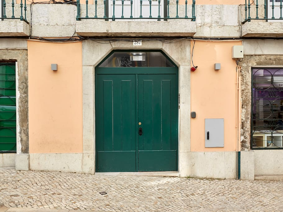 Our Building Door at Rua da Madalena.