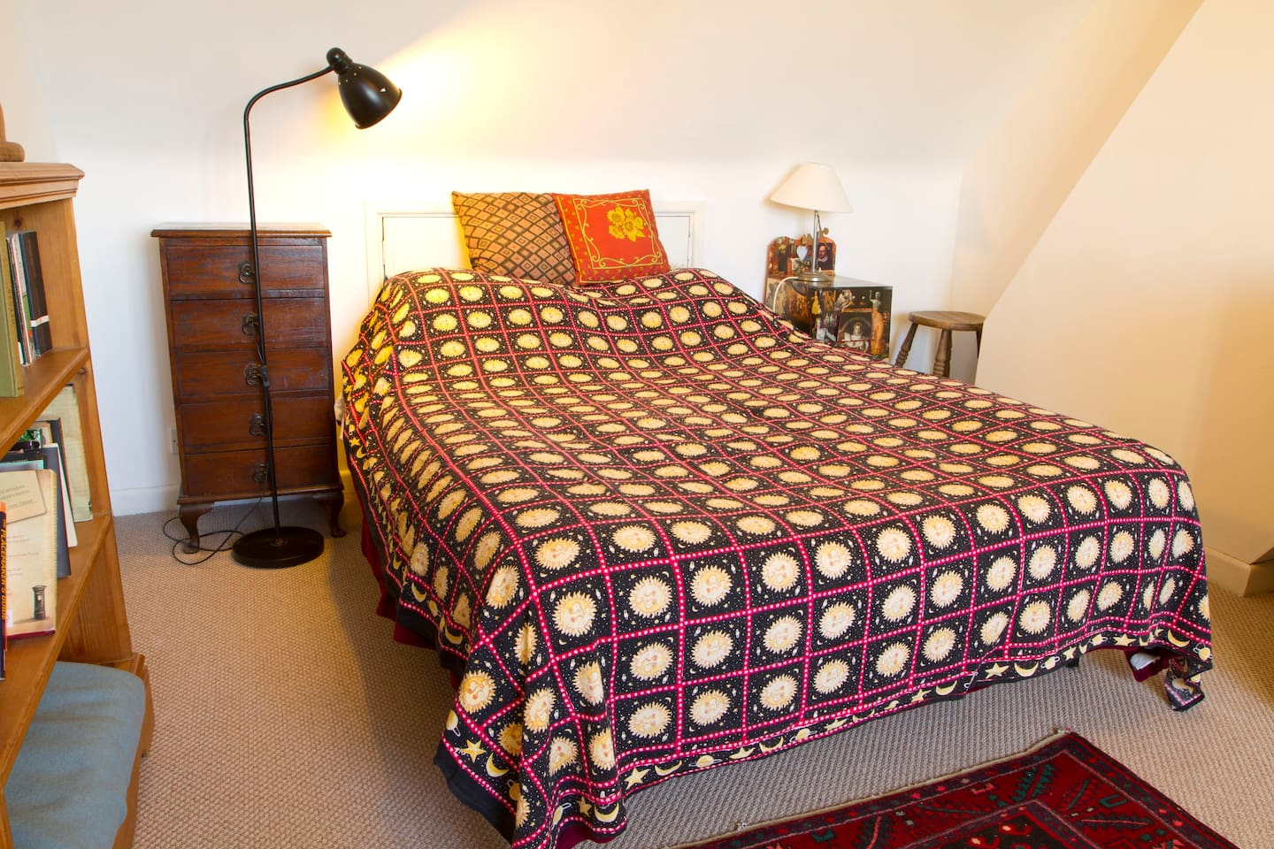 This is your room, with a beautiful view over Oxford, and a bathroom for your private use