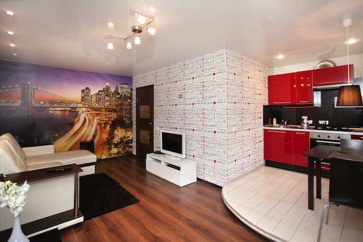 Квартира-студия в центре города.