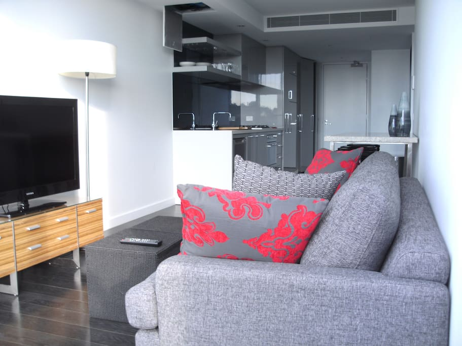 modern furniture and new appliances