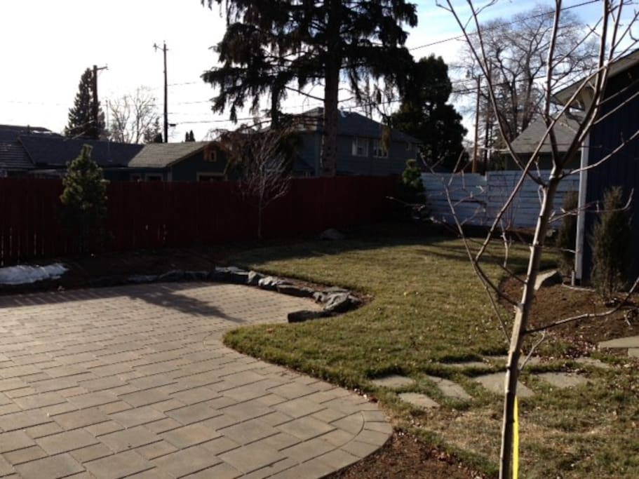 Spacious backyard with all new landscaping