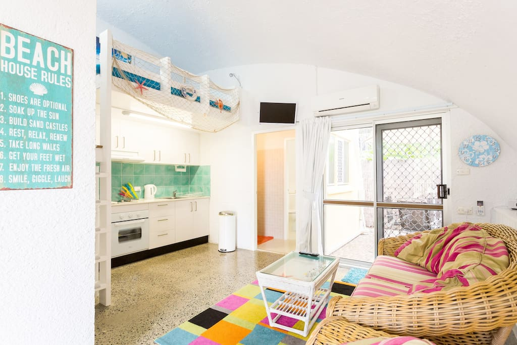 This bright, colorful cottage will delight you from the moment you enter.