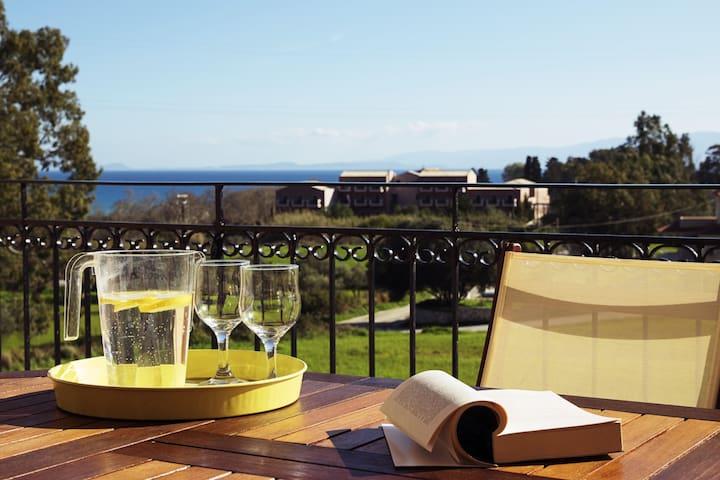 Sunny Coco mat villa in Katelios with a sea view