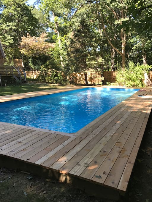 Pool with new deck