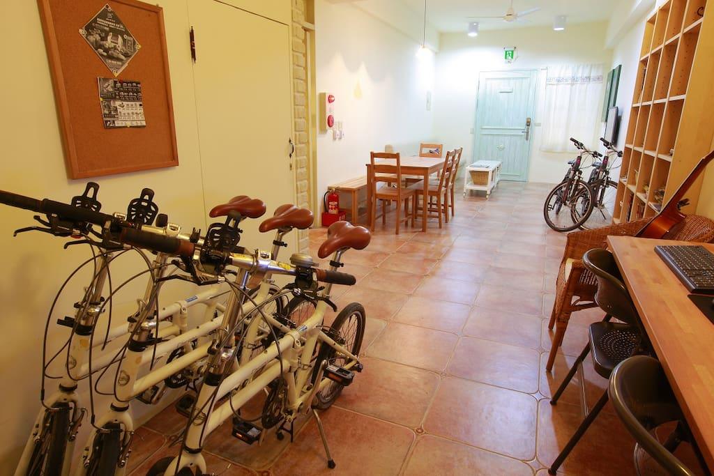 單車可寄放室內