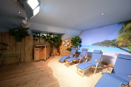 Spacious apartment private beach sun shine 365 day - Hythe - Huoneisto