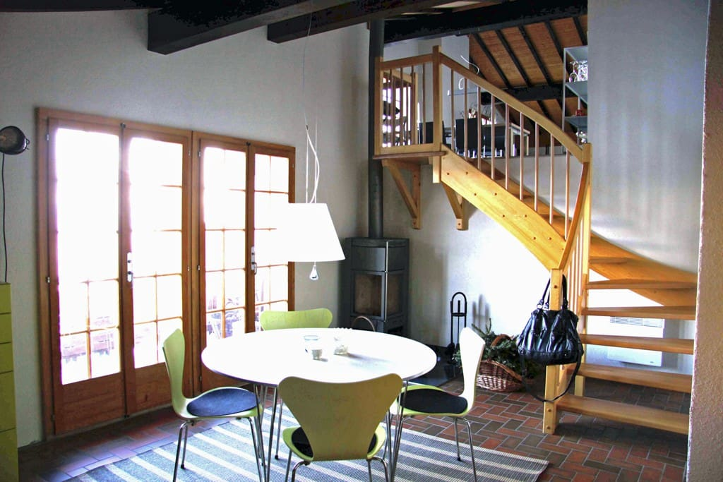 Wohnküche im Chalet Les Rominelles