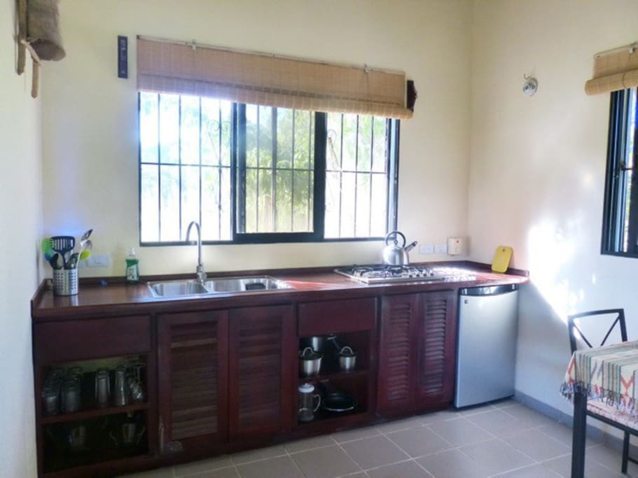 Convenient and new kitchen.