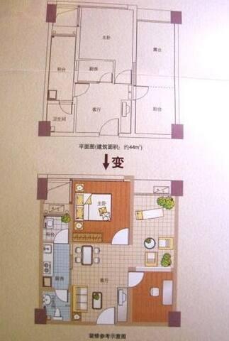 Subways Airport Entry-exit。Convenient rental house