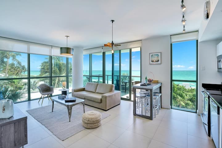 🌊 Dharma | Miami Beach | Ocean Front 1BR + PRIVATE BALCONY 🌊