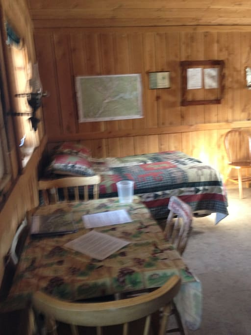 Full size beds with all bedding and quilts