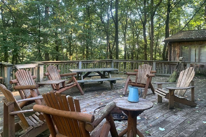 Relaxing deck and fire pit
