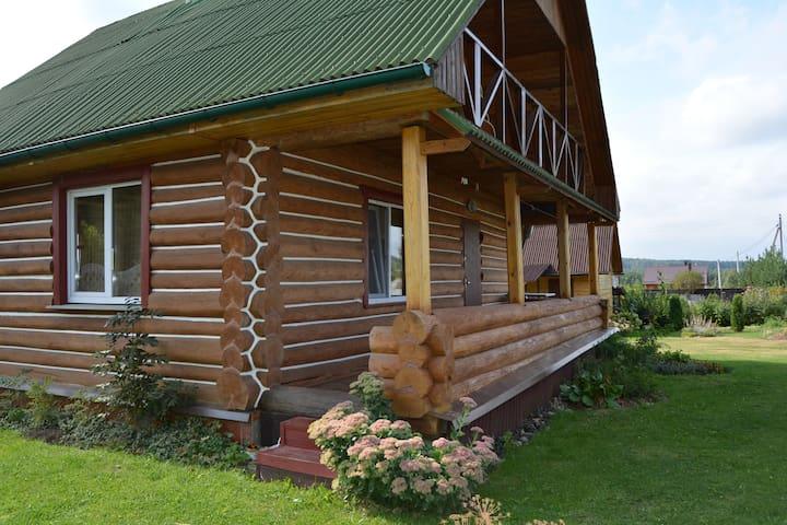 "Усадьба ""Тихая дача"" с баней на дровах. - Lahojsk - Domek gościnny"