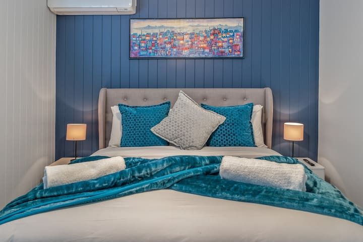 Enjoy the comfort of the Master Bed and its clean, inviting linen.