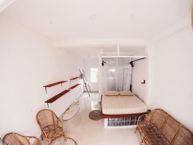 Spacious Private Room with Garden View Balcony