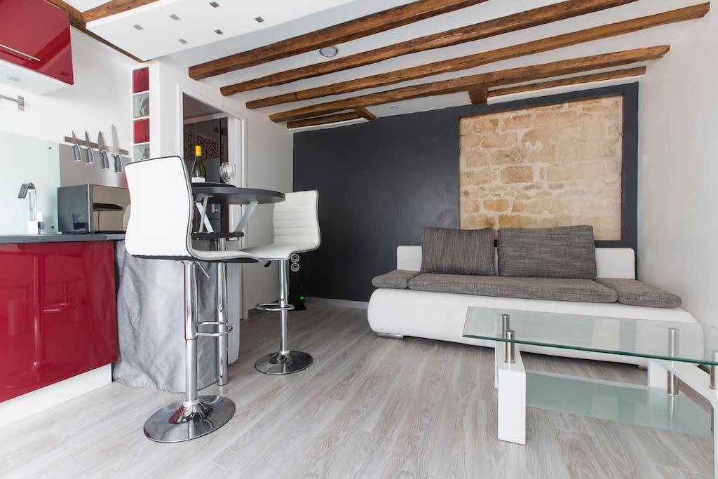 Beau studio atypique centre paris appartements louer for Studio atypique paris