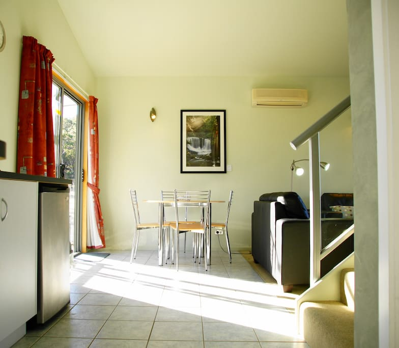 Chalets - kitchenette and meals area