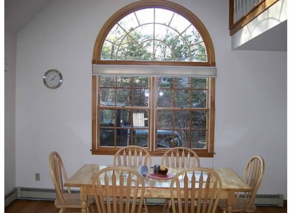 Dining area of open first floor