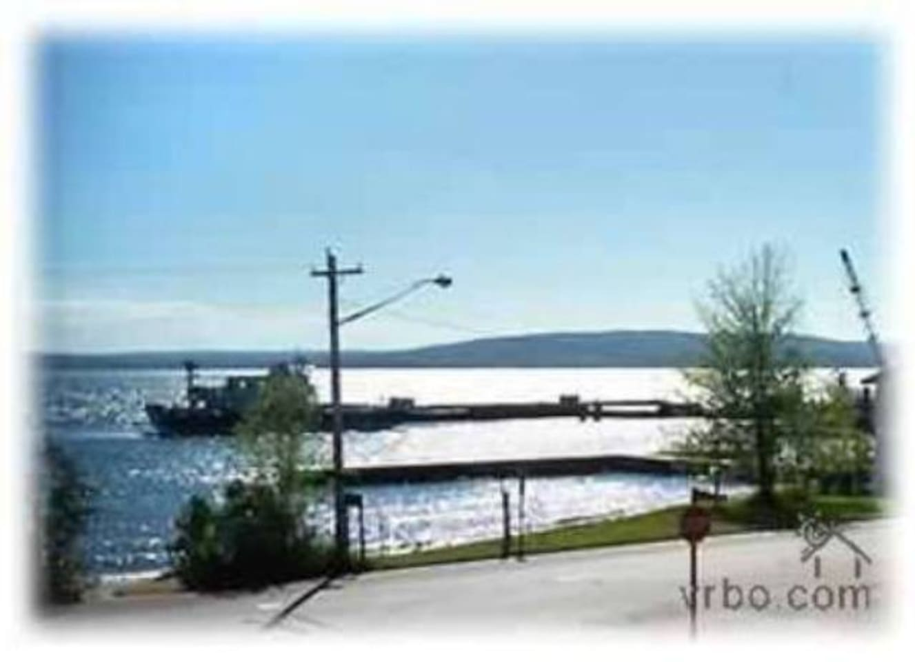The ferry landing is only two blocks away!