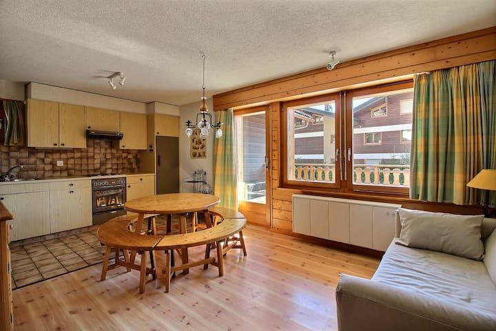Skieurs 016 - 3 chambres proche de Médran - Bagnes - Apartamento
