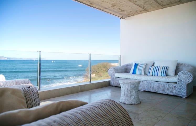 Beautiful house alongside the sea