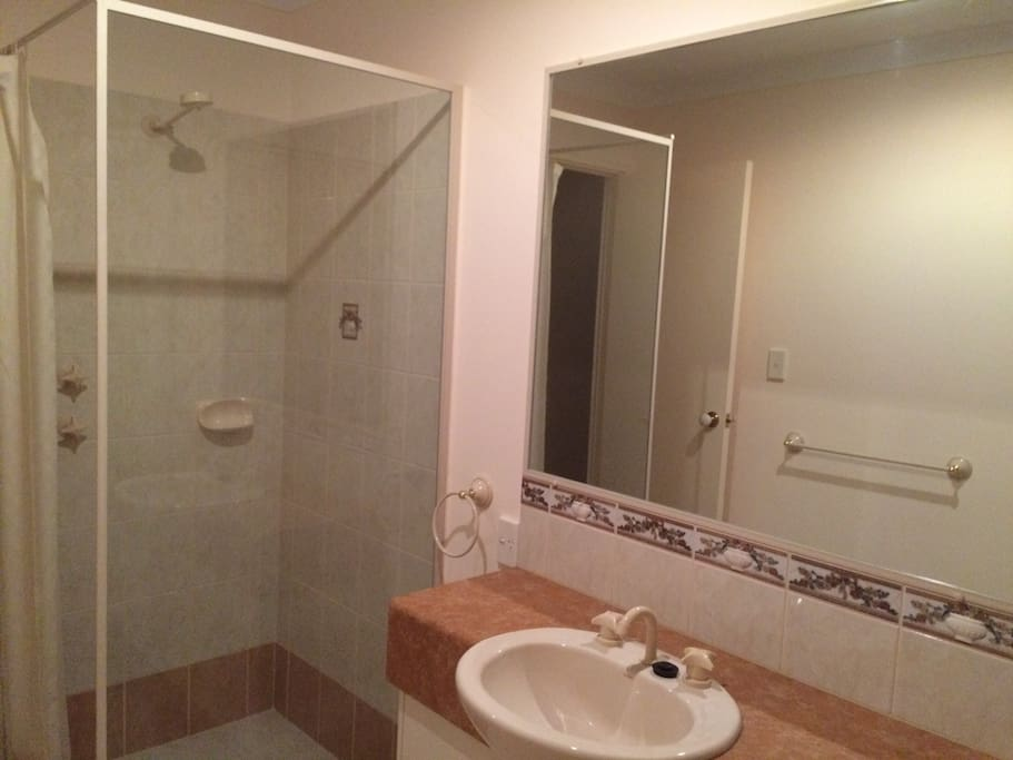 Your private shower and basin