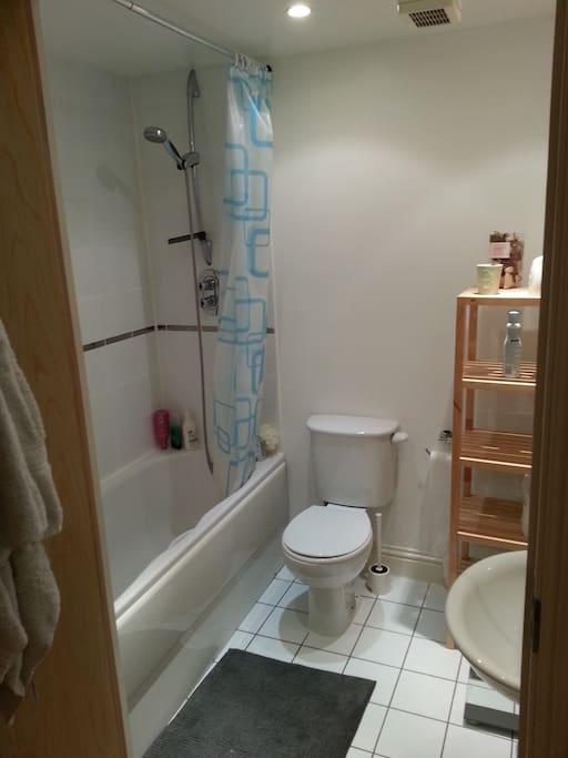Large privet bathroom recently refurbished.