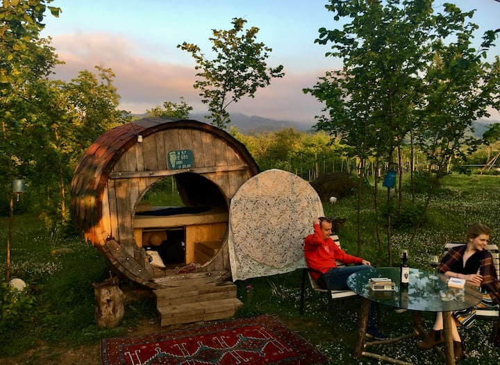 Glamping in Guria - Diogenes Barrel