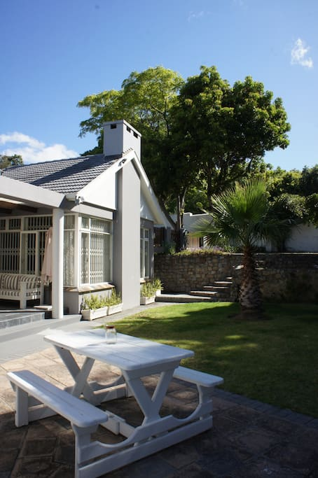 Private Garden with minimal Cape Town winds.