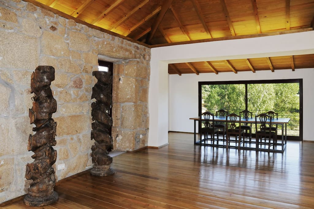 View of Living room with dinning area for 10 people
