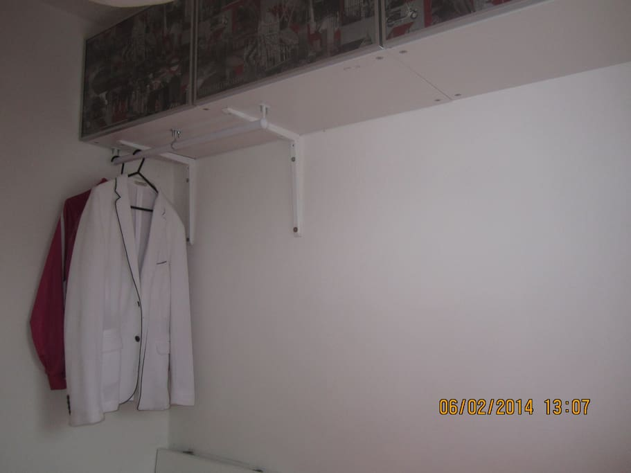 Ample hanging space for clothes