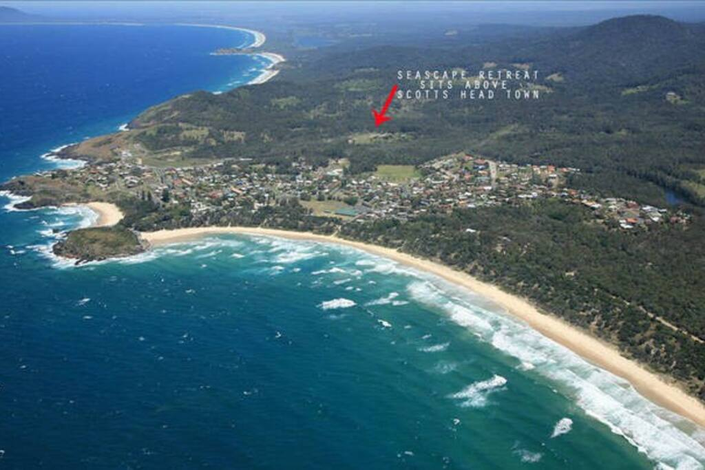Location of Seascape Retreat