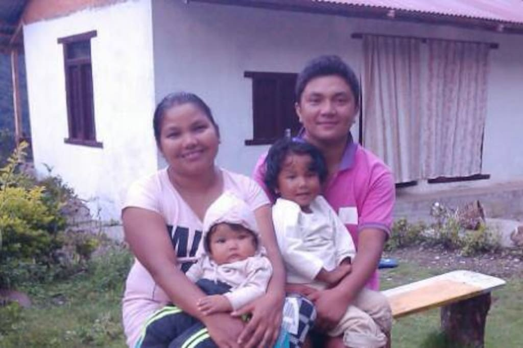 Your host family: Bimal & Parbati Thami with their 2 lovely daughters