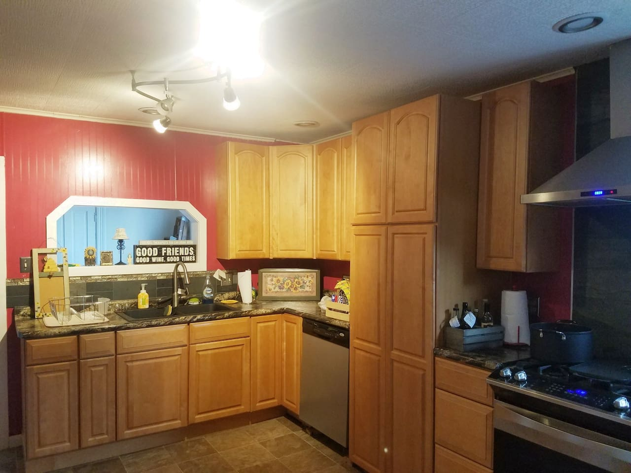 Completely remodeled kitchen with everything you need for a home away from home!