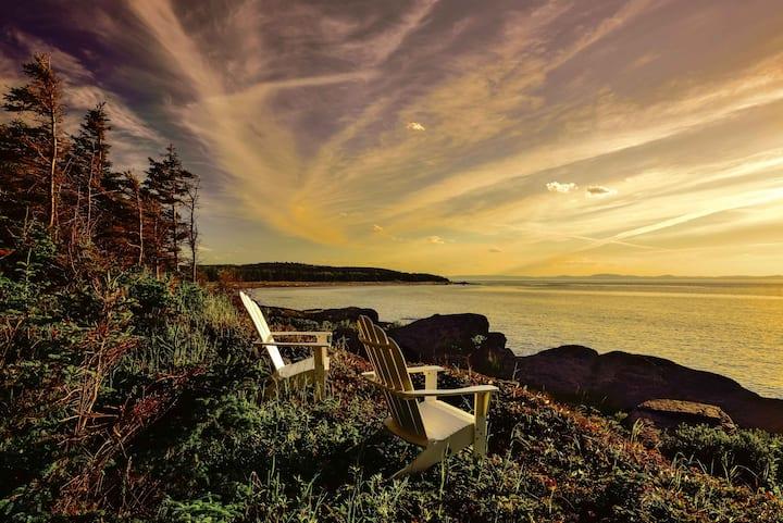 Charmante maison sur une île du Saint-Laurent.