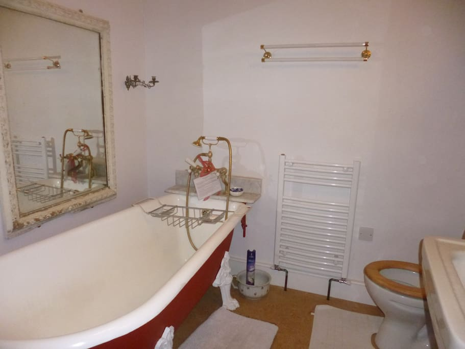 En suite bathroom with largest double of 3 doubles rooms available.