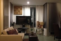 Living Space with Sofa & Entertainment System