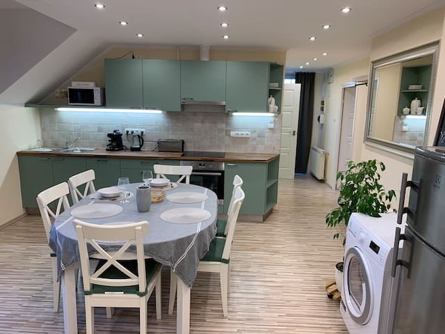Airport Apartment with free parking plot