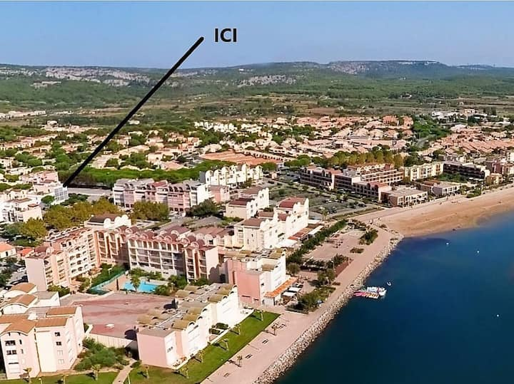 150 ms plage, STUDIO 1 à 2 pers + parking