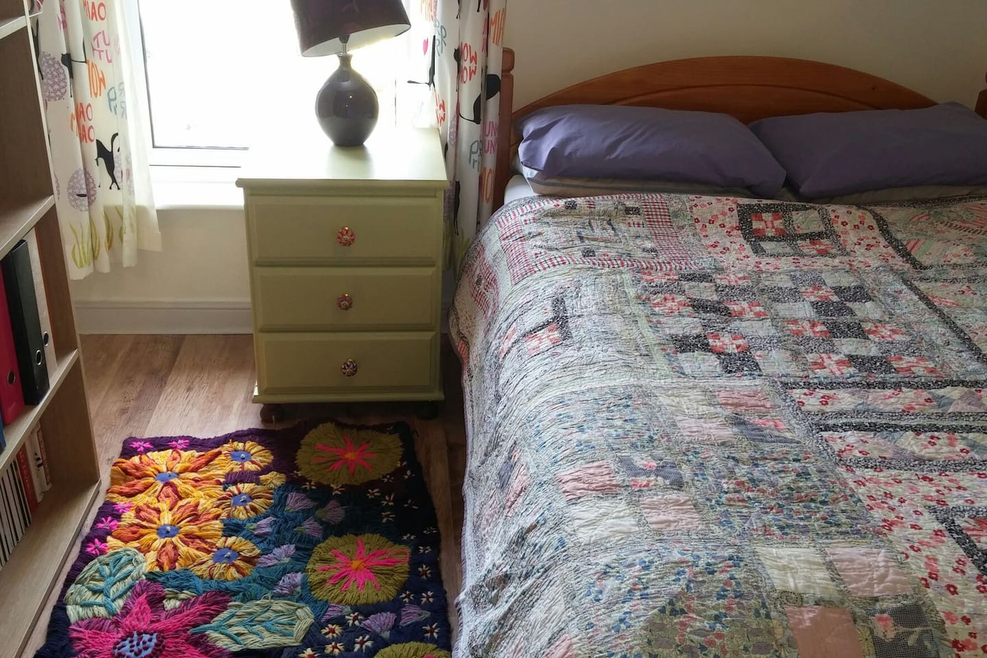 Bedroom is located at the back of the building overlooking the garden (note shared bathroom)