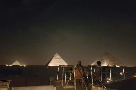 The view of the pyramids hotel - Nazlet el Samaan