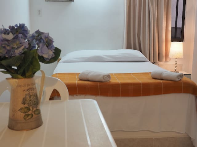 Double bed with air conditioning room