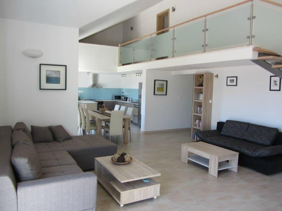 Livingroom looking to mezzanine