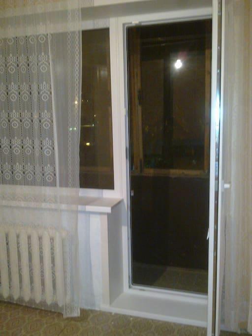 Зал переходящий в балкон