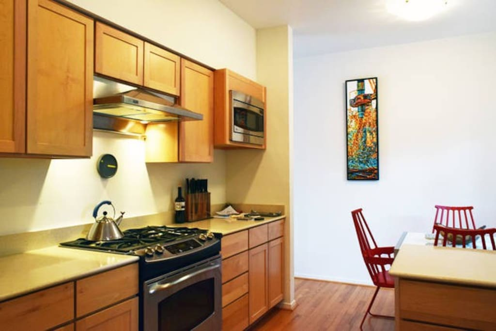 Kitchen and breakfast nook.  You are welcome to use both of these as well.  Kitchen is on the second floor.