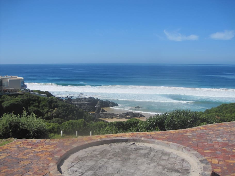 Huge barbeque/braai area overlooking the beach - if you're lucky, you may spot some of the local dolphins